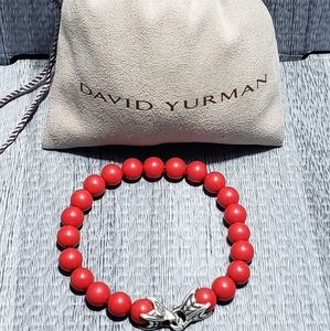 David Yurman  Coral bead bracelet